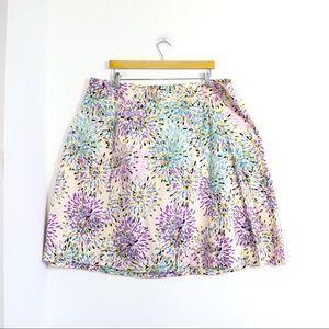 Lane Bryant abstract print cotton mini skirt trend